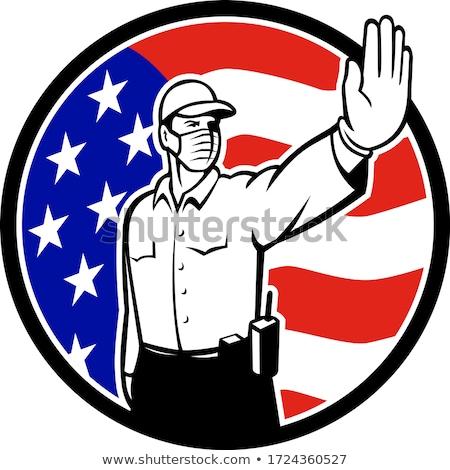 Amerikaanse grens officier gezicht masker Stockfoto © patrimonio