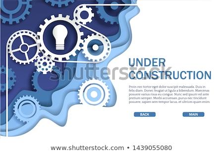 Nowoczesne budowy maszyn banner budynku Zdjęcia stock © RAStudio