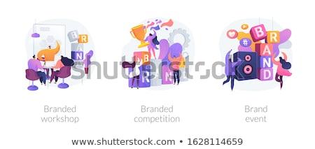Brand events and teambuilding vector concept metaphors Stock photo © RAStudio