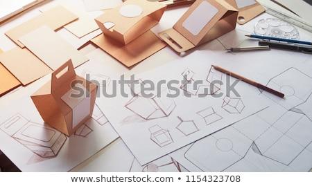 Paket kahverengi kağıt ambalaj beyaz Stok fotoğraf © yakovlev