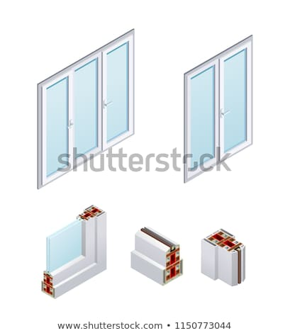 Pvc Window Frames Isometric Icons Set Vector Stock photo © pikepicture