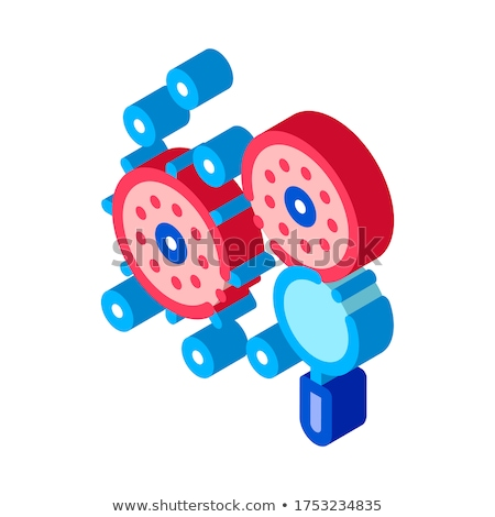 Unhealthy Pathogen Element isometric icon vector illustration Stock photo © pikepicture