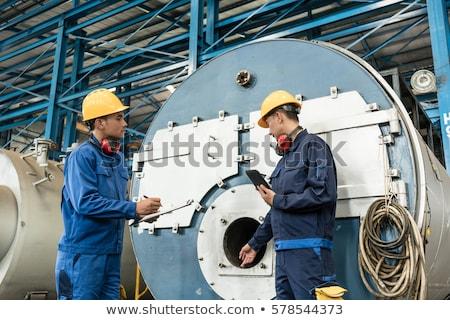 Szakértő minőség ázsiai ipari gőz férfiak Stock fotó © Kzenon