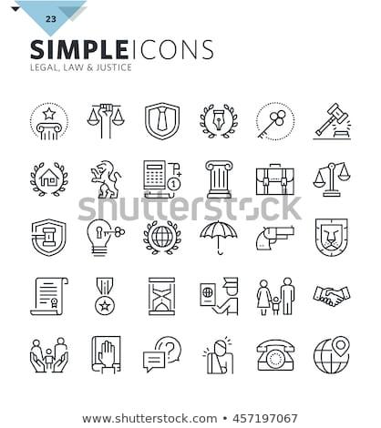 Család törvény absztrakt vektor illusztrációk szett Stock fotó © RAStudio