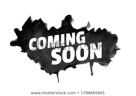 Abstract grunge stijl binnenkort zwarte splatter Stockfoto © SArts