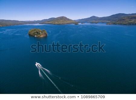 Berg meer cruiseschip water vliegtuig Idaho Stockfoto © Frankljr