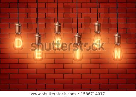 Cuivre rétro interrupteur de lumière mur Photo stock © tarczas