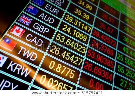 bourse · prix · écran · résumé · suivre · bleu - photo stock © deyangeorgiev