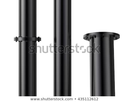 черный · трубка · кирпичных · дома · стены · используемый - Сток-фото © deyangeorgiev