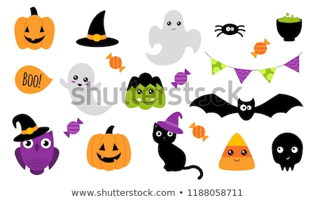 cute ghost stickers stock photo © kariiika