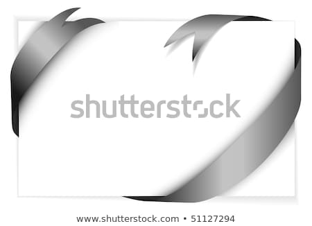 black vector ribbon around blank white paper stock photo © orson