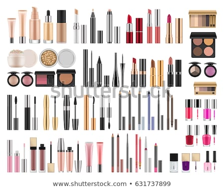 kozmetika · szett · izolált · fehér · szem · festék - stock fotó © dayzeren