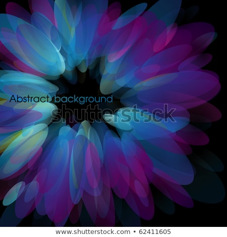 Abstract Neon Petals Vector Illustration Photo stock © ussr