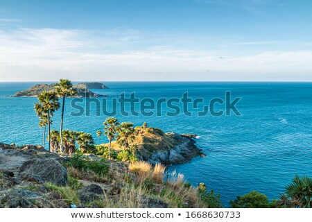 View of Promthep cape in the morning. Phuket island, Thailand. Stock photo © moses