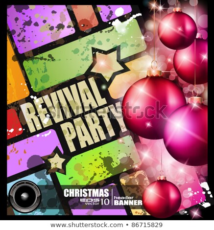 revival party flyer for Christmas event Stock photo © DavidArts