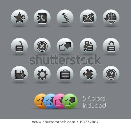 Интернет иконы набор два шестнадцать синий Сток-фото © fenton