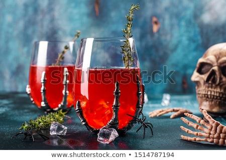 демон пить стекла сломанной рюмку Сток-фото © backyardproductions