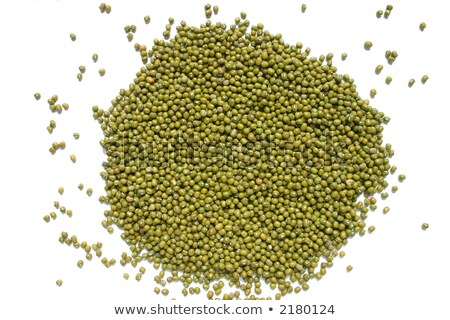 Mung beans on a white background, a good source of folic acid Stock photo © latent
