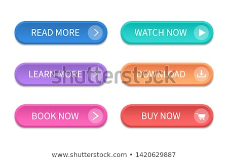 Vector - arrow download green button icon Stock photo © experimental