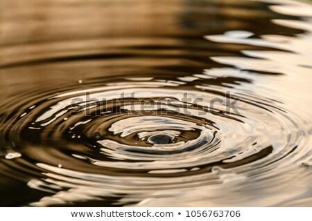 Su damlası beyaz mavi kâğıt mutlu pencere Stok fotoğraf © romvo