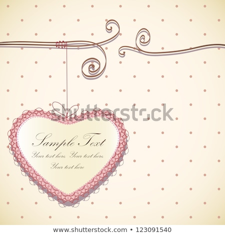 Beautiful Valentine background with cage Stock photo © Elmiko
