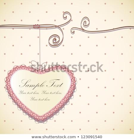 美しい · バレンタイン · ケージ · 手 · 図面 · 鳥 - ストックフォト © Elmiko