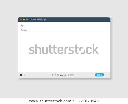 E-mail düğme klavye bilgisayar ofis Internet Stok fotoğraf © MilosBekic