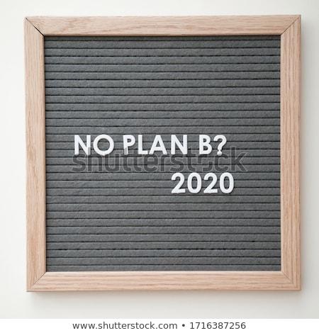 plan · b · signo · negocios · cielo · azul · impresión - foto stock © MilosBekic