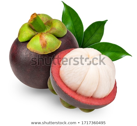 Мангостин фрукты поперечное сечение Purple кожи Сток-фото © szefei