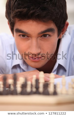 empresário · jogar · xadrez · jogo · estratégia · de · negócios · tática - foto stock © photography33