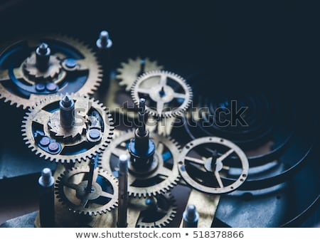 Foto d'archivio: Synergy - Circle Of People Turning In Gears