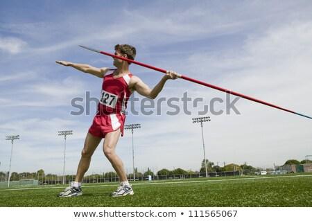 Női atléta dob sportok esemény nő Stock fotó © stevemc