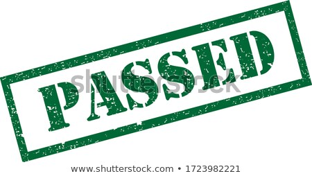 Passed rubber stamp stock photo © IMaster