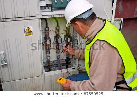 elettricista · elettrica · primo · piano · faccia · finestra - foto d'archivio © photography33