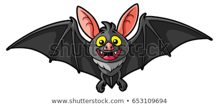 engraçado · morcego · vetor · design · arte · voar - foto stock © indiwarm