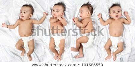 Beautiful Indian Baby on White Satin Background Stock photo © Akhilesh