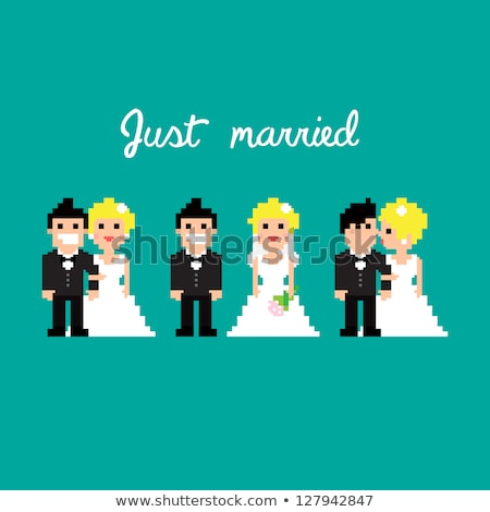 Casamento casal mulher amor cabelo Foto stock © meshaq2000