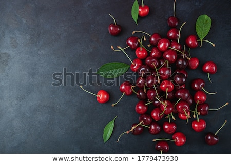 heap of cherries and leaf Stock photo © M-studio