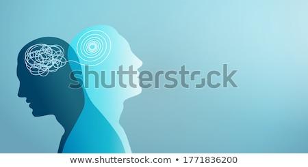 Podwoić osobowość sexy kobieta patrząc lustra więcej Zdjęcia stock © blanaru