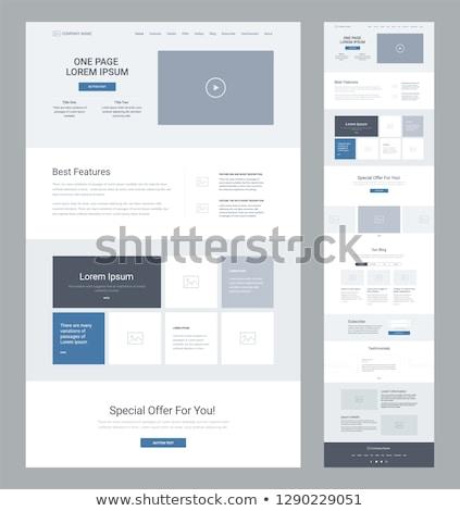 Vektör web sitesi şablon açmak notepad renkli Stok fotoğraf © orson
