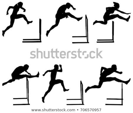 Hurdles silhouettes set Stock photo © Kaludov