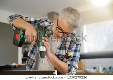 man using power drill stock photo © photography33