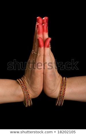 Palli hasta of indian dance Bharata Natyam Stock photo © dmitry_rukhlenko