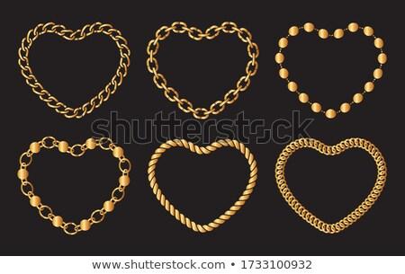 Foto stock: Orrente · e · formato · de · coração