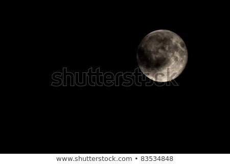 moody full moon part covered by cloud stock photo © scheriton