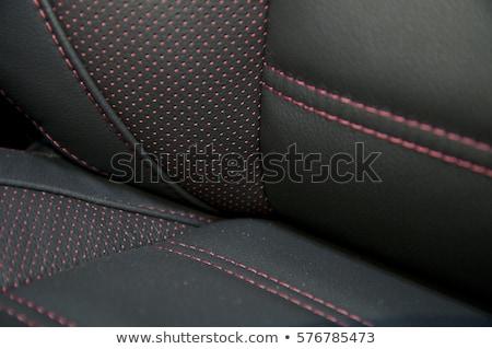 Orange stitched leather background Stock photo © Arsgera