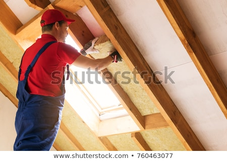 Contractor Installing Insulation stock photo © lisafx