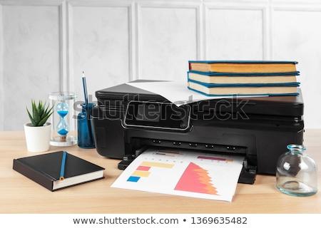 Functie printer geïsoleerd witte computer kantoor Stockfoto © kitch