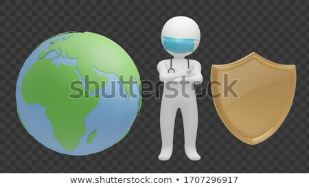 Chirurgiens guérison peu monde monde terre Photo stock © photography33