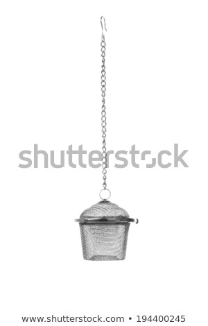 Empty metal tea infuser isolated Stock photo © ozaiachin
